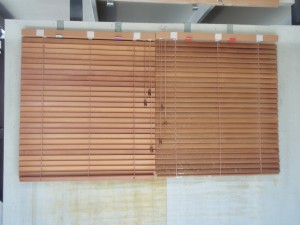 timber blinds before cleaning