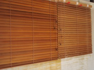 timber blinds after cleaning