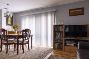 home interior with awesome blinds